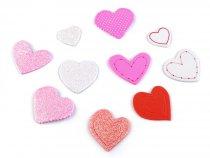 Samolepící pěnová dekorace srdce mix